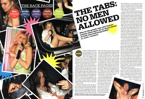 Article Preview: THE TABS: NO MEN ALLOWED, NOV. 12th 2007 2007 | Maclean's