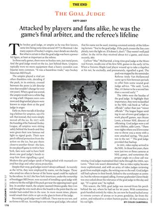 Article Preview: Attacked by players and fans alike, he was the game's final arbiter, and the referee's lifeline, NOV. 19th 2007 2007 | Maclean's