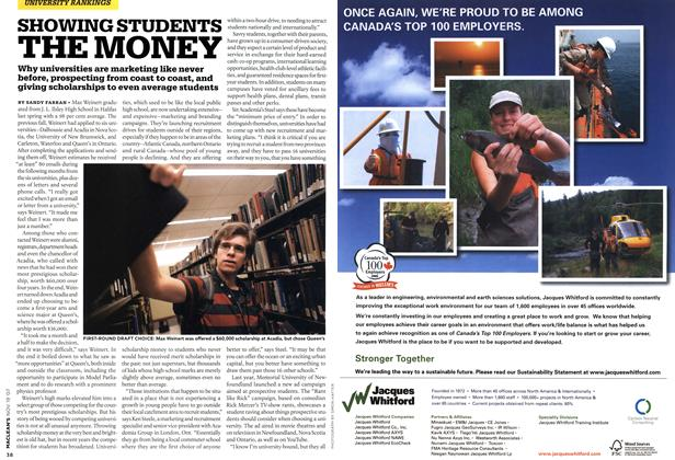 Article Preview: SHOWING STUDENTS THE MONEY, NOV. 19th 2007 2007 | Maclean's
