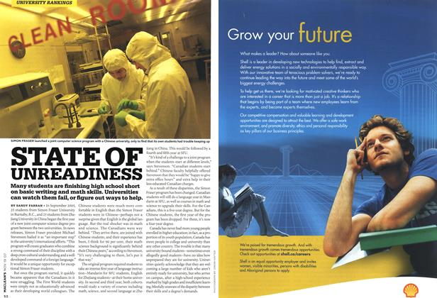 Article Preview: STATE OF UNREADINESS, NOV. 19th 2007 2007 | Maclean's