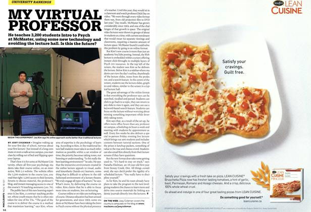 Article Preview: MY VIRTUAL PROFESSOR, NOV. 19th 2007 2007 | Maclean's