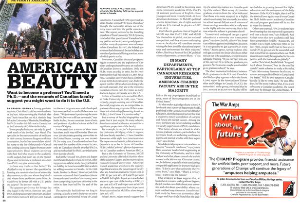 Article Preview: AMERICAN BEAUTY, NOV. 19th 2007 2007 | Maclean's