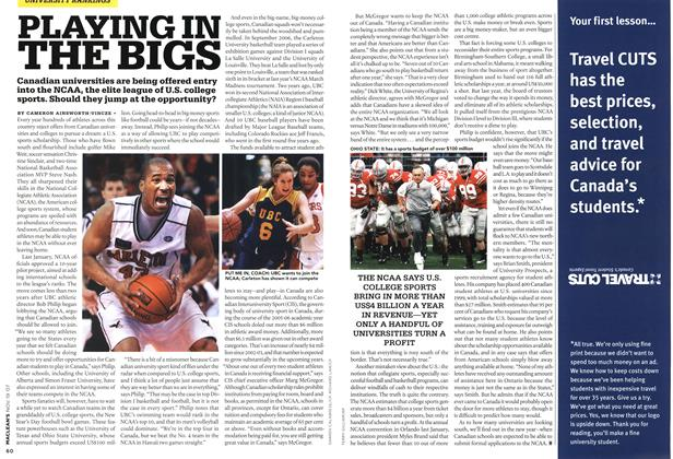 Article Preview: PLAYING IN THE BIGS, NOV. 19th 2007 2007 | Maclean's