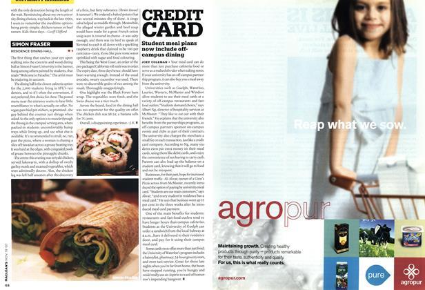 Article Preview: CREDIT CARD, NOV. 19th 2007 2007 | Maclean's