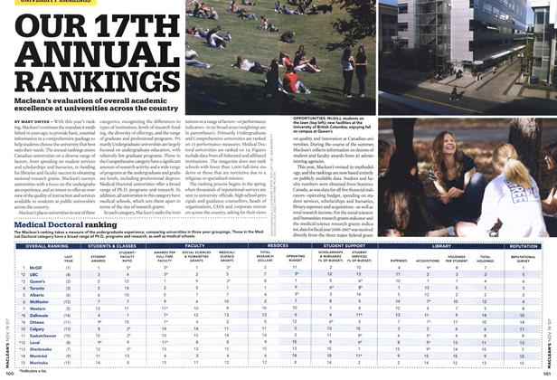 Article Preview: OUR 17TH ANNUAL RANKINGS, NOV. 19th 2007 2007 | Maclean's
