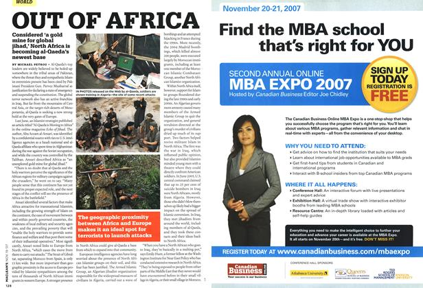Article Preview: OUT OF AFRICA, NOV. 19th 2007 2007 | Maclean's
