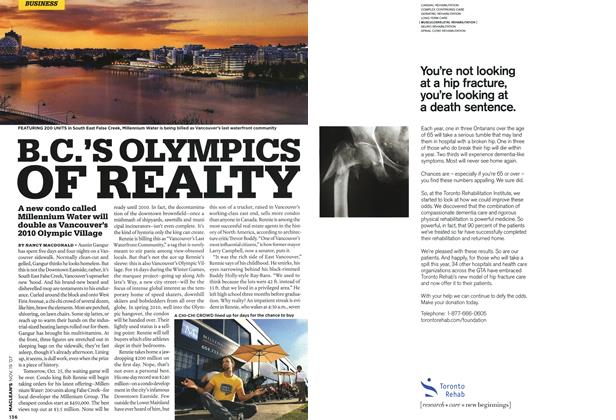 Article Preview: B.C.'S OLYMPICS OF REALTY, NOV. 19th 2007 2007 | Maclean's