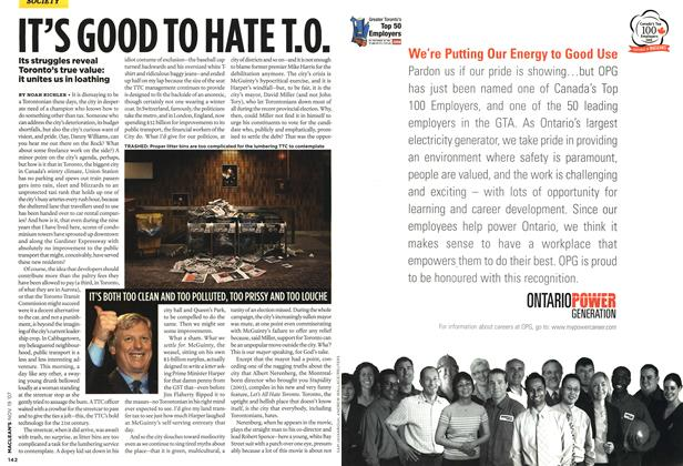 Article Preview: IT'S GOOD TO HATE T.O., NOV. 19th 2007 2007 | Maclean's