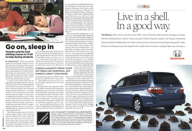 Article Preview: Go on, sleep in, NOV. 19th 2007 2007 | Maclean's