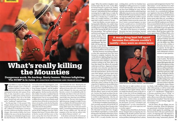 Article Preview: What's really killing the Mounties, NOV. 26th 2007 2007 | Maclean's