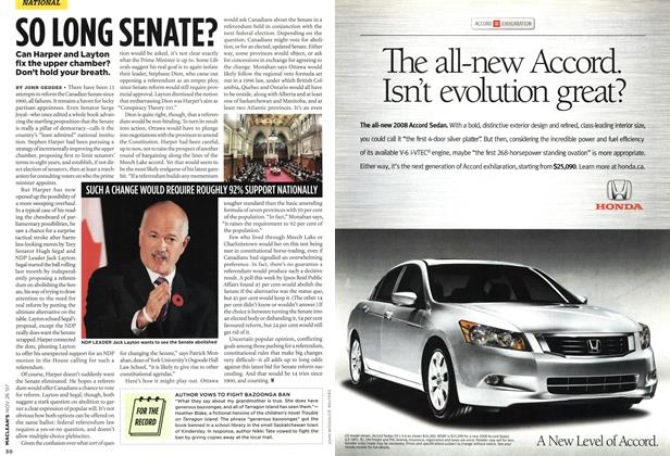 Article Preview: SO LONG SENATE?, NOV. 26th 2007 2007 | Maclean's
