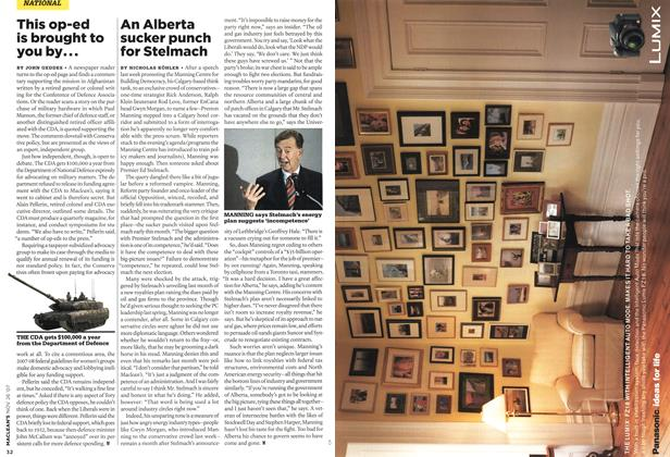 Article Preview: An Alberta sucker punch for Stelmach, NOV. 26th 2007 2007 | Maclean's