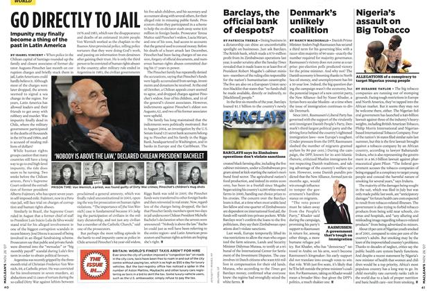 Article Preview: Barclays, the official bank of despots?, NOV. 26th 2007 2007 | Maclean's