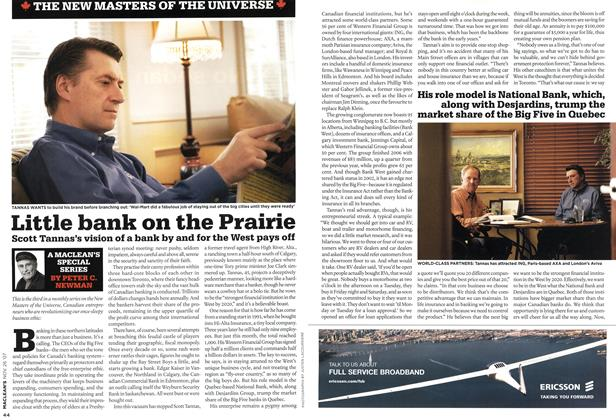 Article Preview: Little bank on the Prairie, NOV. 26th 2007 2007 | Maclean's
