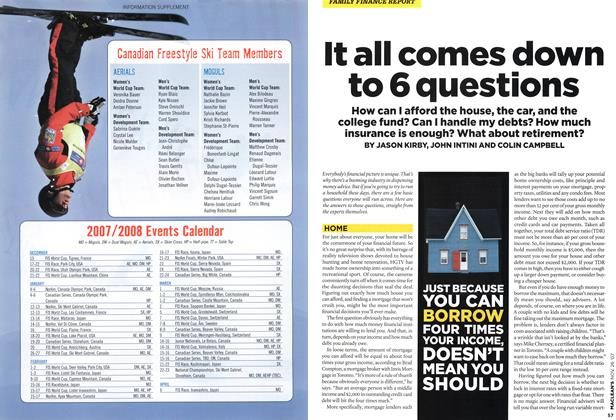 Article Preview: It all comes down to 6 questions, NOV. 26th 2007 2007 | Maclean's