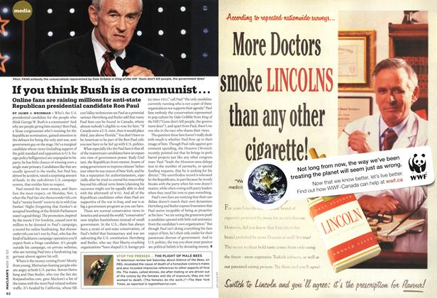 Article Preview: If you think Bush is a communist..., NOV. 26th 2007 2007 | Maclean's