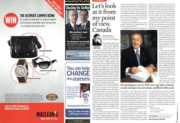 Article Preview: Let's look at it from my point of view, Canada, NOV. 26th 2007 2007 | Maclean's