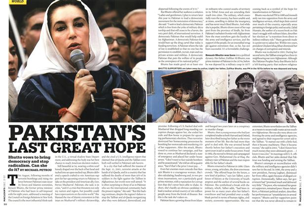 Article Preview: PAKISTAN'S LAST GREAT HOPE, DEC. 3rd 2007 2007 | Maclean's