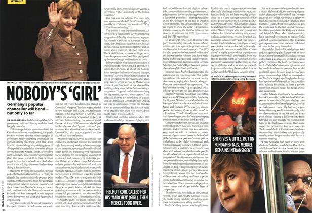 Article Preview: NOBODY'S 'GIRL', DEC. 3rd 2007 2007 | Maclean's