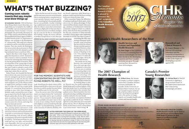 Article Preview: WHAT'S THAT BUZZING?, DEC. 3rd 2007 2007 | Maclean's