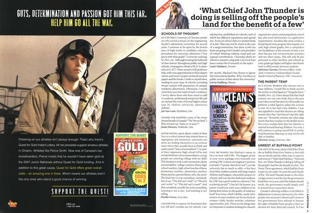Article Preview: 'What Chief John Thunder is doing is selling off the people's land for the benefit of a few', DEC. 3rd 2007 2007 | Maclean's