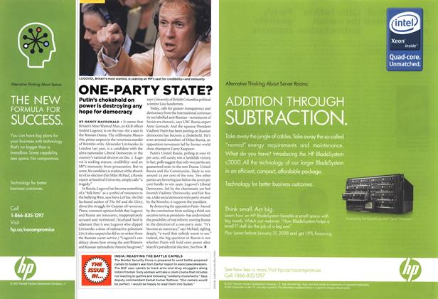 Article Preview: ONE-PARTY STATE?, DEC. 10th 2007 2007 | Maclean's