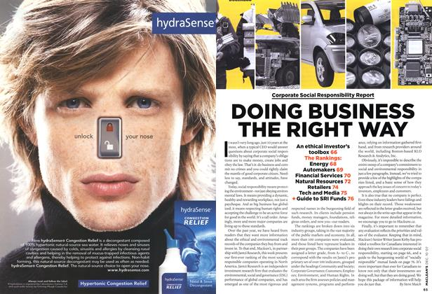 Article Preview: DOING BUSINESS THE RIGHT WAY, DEC. 10th 2007 2007 | Maclean's