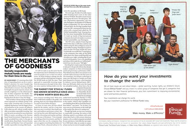 Article Preview: THE MERCHANTS OF GOODNESS, DEC. 10th 2007 2007 | Maclean's