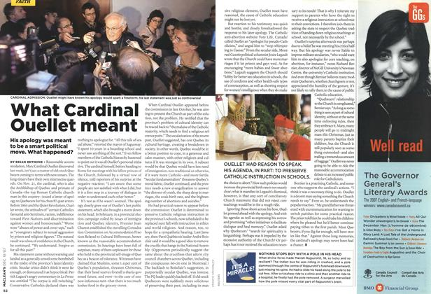 Article Preview: What Cardinal Ouellet meant, DEC. 10th 2007 2007 | Maclean's