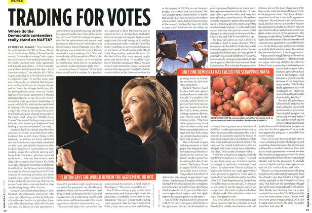 Article Preview: TRADING FOR VOTES, DEC. 17th 2007 2007 | Maclean's