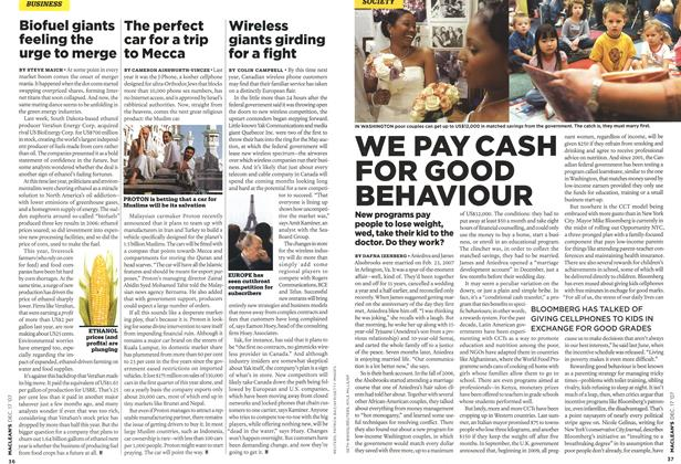 Article Preview: WE PAY CASH FOR GOOD BEHAVIOUR, DEC. 17th 2007 2007 | Maclean's