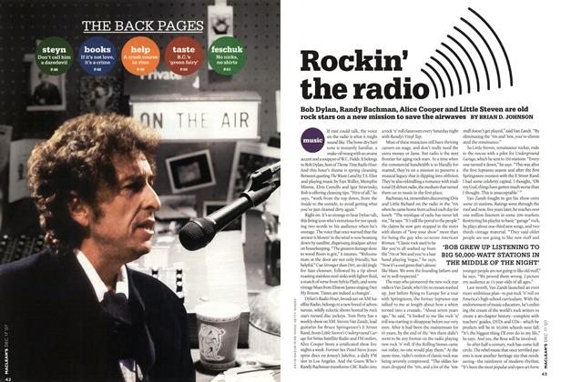 Article Preview: Rockin' the radio, DEC. 17th 2007 2007 | Maclean's