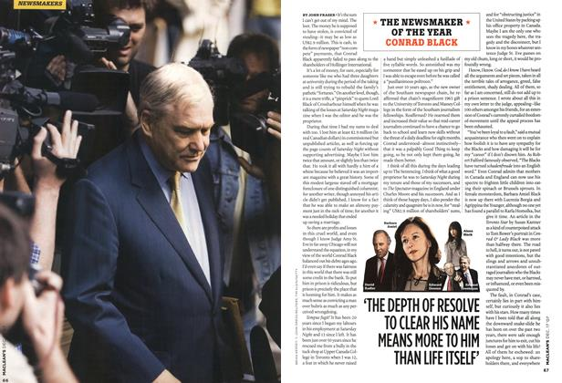 Article Preview: THE NEWSMAKER OF THE YEAR CONRAD BLACK, DEC. 17th 2007 2007   Maclean's