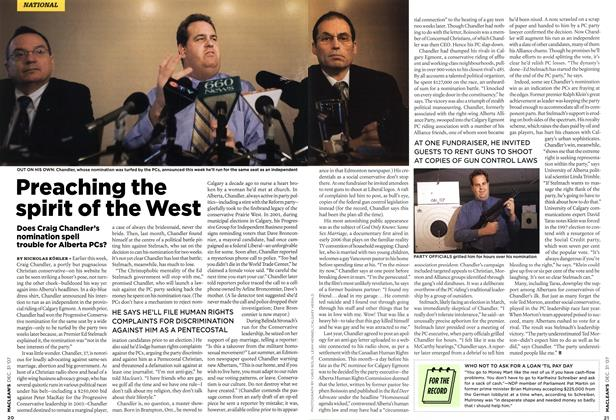Article Preview: Preaching the spirit of the West, DEC. 31st 2007 2007 | Maclean's