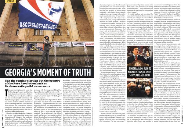 Article Preview: GEORGIA'S MOMENT OF TRUTH, DEC. 31st 2007 2007 | Maclean's