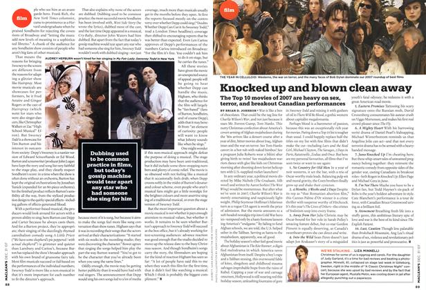Article Preview: Knocked up and blown clean away, DEC. 31st 2007 2007 | Maclean's