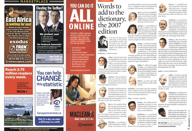 Article Preview: Words to add to the dictionary, the 2007 edition, DEC. 31st 2007 2007 | Maclean's