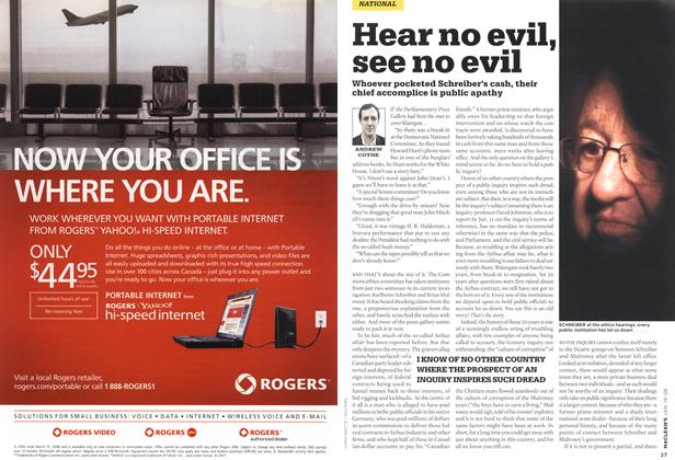 Article Preview: Hear no evil, see no evil, JAN. 14th 2008 2008 | Maclean's