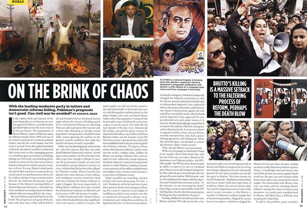 Article Preview: ON THE BRINK OF CHAOS, JAN. 14th 2008 2008 | Maclean's