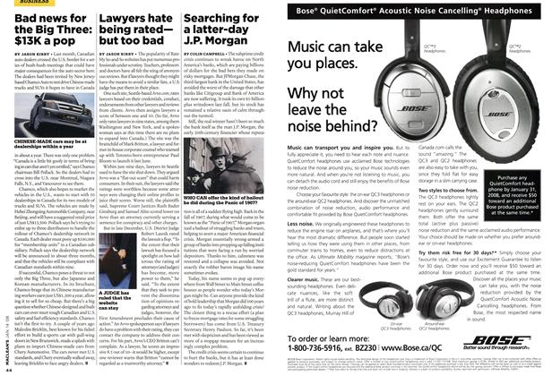 Article Preview: Lawyers hate being rated— but too bad, JAN. 14th 2008 2008 | Maclean's