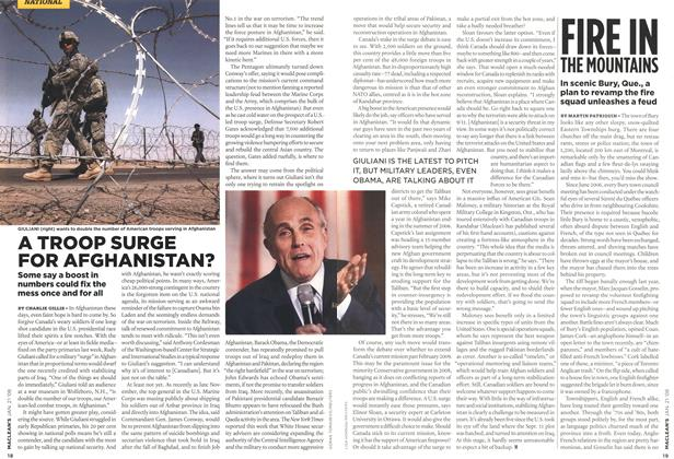 Article Preview: A TROOP SURGE FOR AFGHANISTAN?, JAN. 21st 2008 2008 | Maclean's