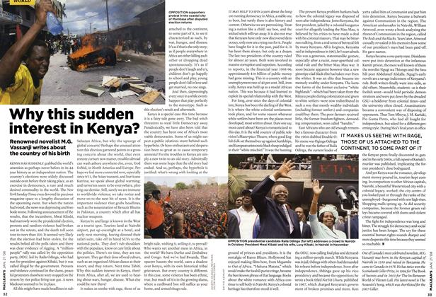 Article Preview: Why this sudden interest in Kenya?, JAN. 21st 2008 2008 | Maclean's