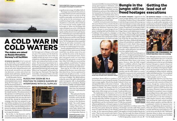 Article Preview: A COLD WAR IN COLD WATERS, JAN. 21st 2008 2008 | Maclean's