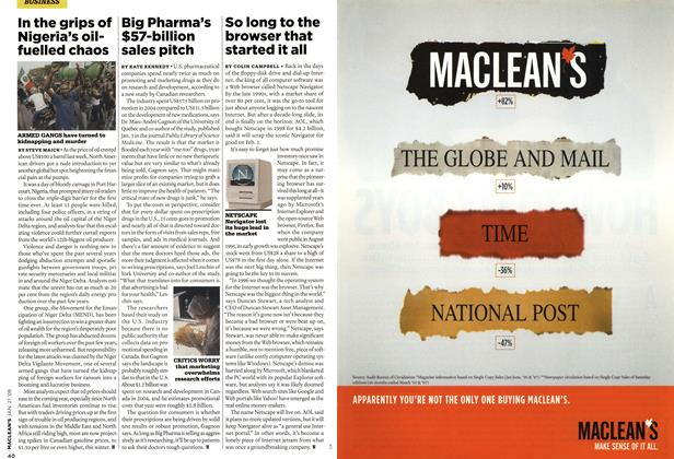 Article Preview: So long to the browser that started it all, JAN. 21st 2008 2008 | Maclean's
