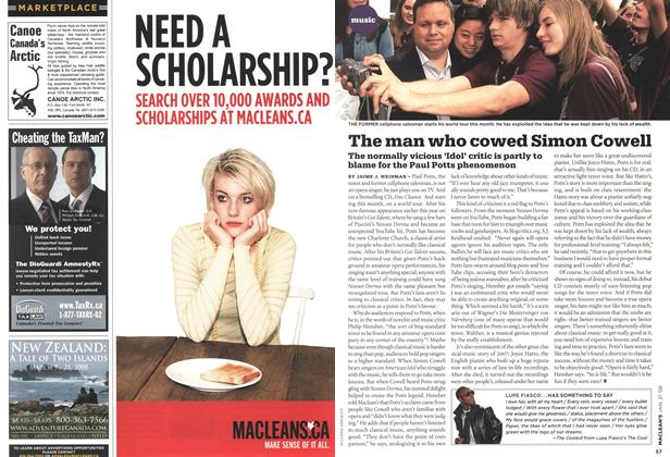 Article Preview: The man who cowed Simon Cowell, JAN. 21st 2008 2008 | Maclean's
