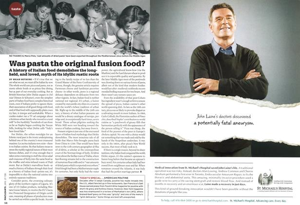 Article Preview: Was pasta the original fusion food?, JAN. 21st 2008 2008 | Maclean's