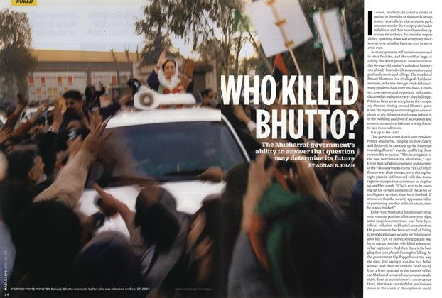 Article Preview: WHO KILLED BHUTTO?, JAN. 28th 2008 2008 | Maclean's