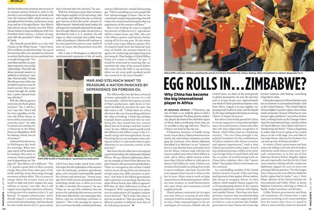 Article Preview: EGG ROLLS IN...ZIMBABWE?, JAN. 28th 2008 2008 | Maclean's