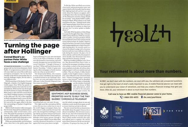 Article Preview: Turning the page after Hollinger, JAN. 28th 2008 2008 | Maclean's