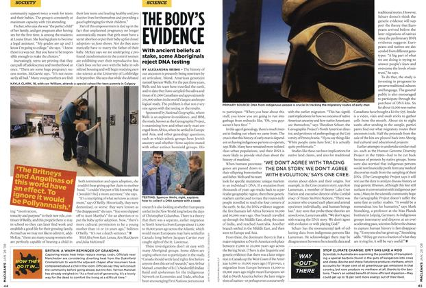 Article Preview: THE BODY'S EVIDENCE, JAN. 28th 2008 2008   Maclean's